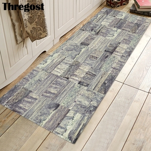 Image 5 - Thregost 스트라이프 인쇄 긴 층 매트 3D 카펫기도 양탄자 이슬람 실내 현관 매트 메모리 폼 소프트 주방 카펫