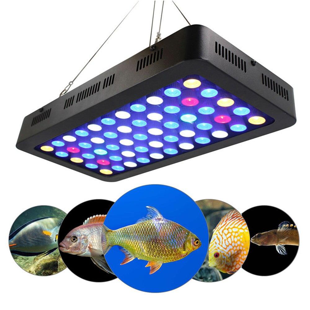 Regulable LED acuario iluminación de espectro completo marino 165W pez arrecife tanque luces Coral SPS LPS UE/EE. UU./Reino Unido