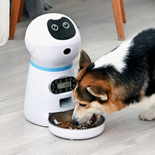 Automatic Pet Feeder Robot Dog Cat Food Dispenser Timed Voice Feeding Machine Slow Food Feeding Container Supplies