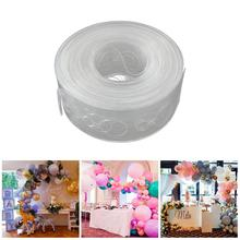 5m Plastic Transparent Balloon Chain Tape Arch Connect Strip For Wedding Birthday Party Decor