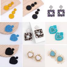 Bohemian Statement Crystal Beads Oorbellen New Design Handmade Wedding Earrings For Women Minimalist Fashion Jewelry Wholesale ms best fashion black gray resin wedding jewelry design pendant earrings women girl statement earrings gifts wholesale wedding