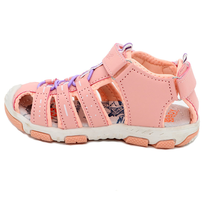 Elegant girls sandals Summer Fashion Cutout rubber bottom Children Shoes New Studant Sport Shoes Closed Toe Girls Sandals