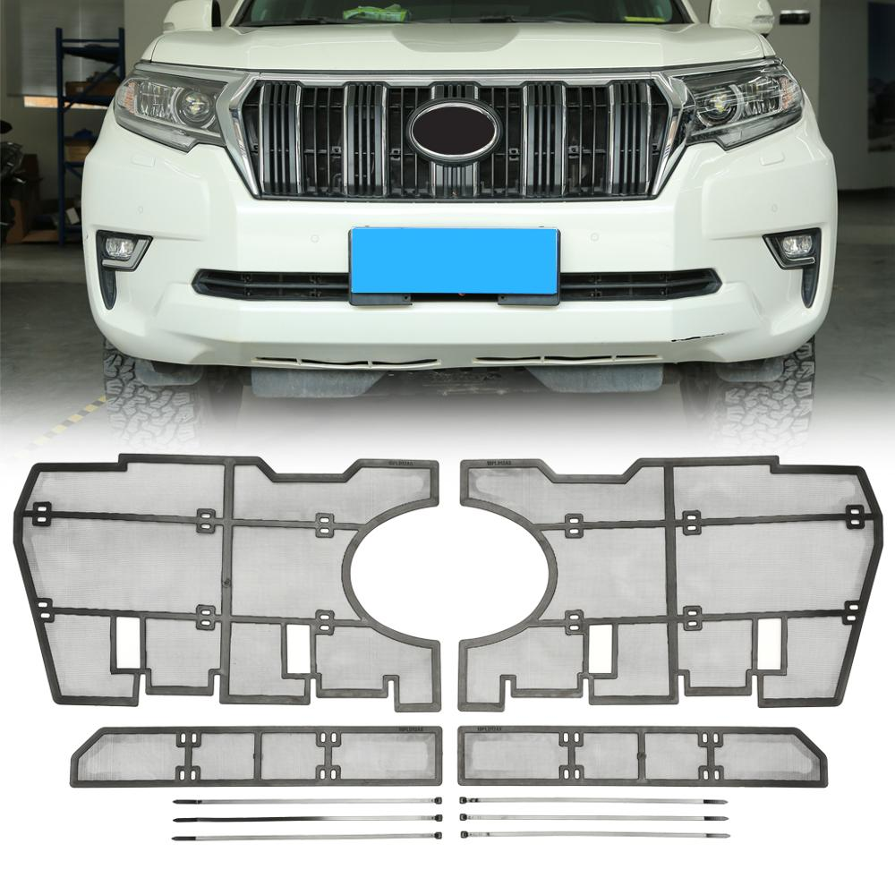 For <font><b>Toyota</b></font> Land Cruiser <font><b>Prado</b></font> 2018 <font><b>2019</b></font> 2020 Car Front Grille Insert Net Protective Mesh Cover <font><b>Accessories</b></font> image