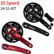 Aluminum Alloy 24-32-42T MTB Bicycle Crank BCD Crankset 30 speed Bike Chainwheel Crank set with BB for bicycle crank fouriers ck gxp011 bike bicycle crank 175mm 180mm bicycle crank is made of the aviation aluminum alloy material