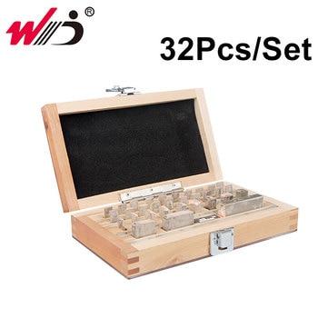 32Pcs/Set 1 grade 0 grade Inspection Block Gauge Test Caliper Blocks Measurement Instruments