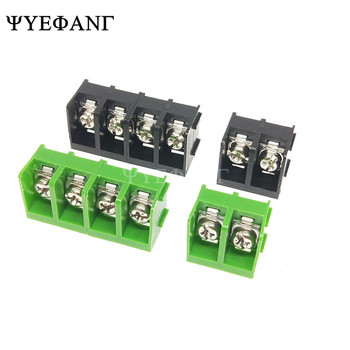 10 unids/lote KF7.62 bloque de terminales de barrera 300 V/20A 2 P/3 P/4 P 7,62mm conector de Terminal de PCB de punto de bloques de terminales de clavija recta