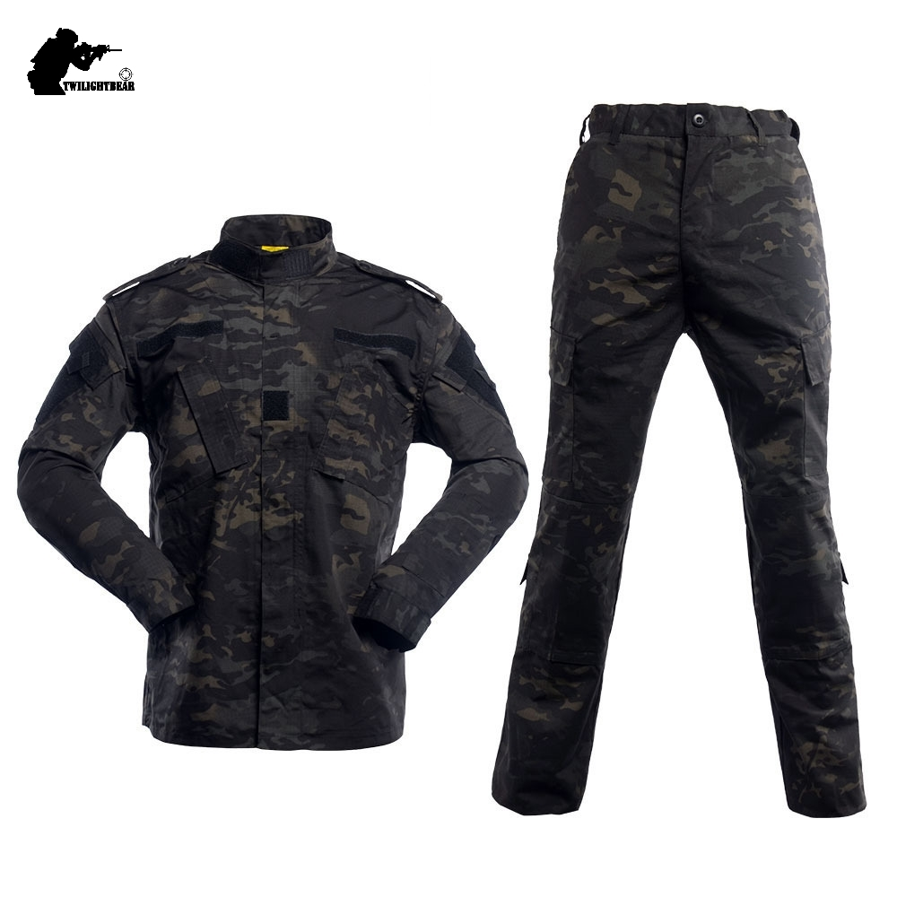 Military Uniform Camouflage Tactical Suit High Quality Camouflage Army Comber Clothing Sets Hunting Fishing Paintball AY1
