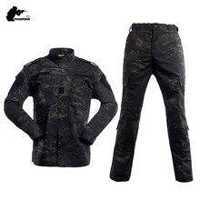 Uniforme militar de camuflaje, traje táctico, conjunto de ropa de Comber de ejército de camuflaje de alta calidad, caza, pesca, Paintball BY1