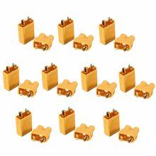 Amass – connecteur de prise antidérapant XT30U, mâle + femelle, doré, 2mm, mise à niveau de la prise XT30, 50 paires, 100 pièces/lot