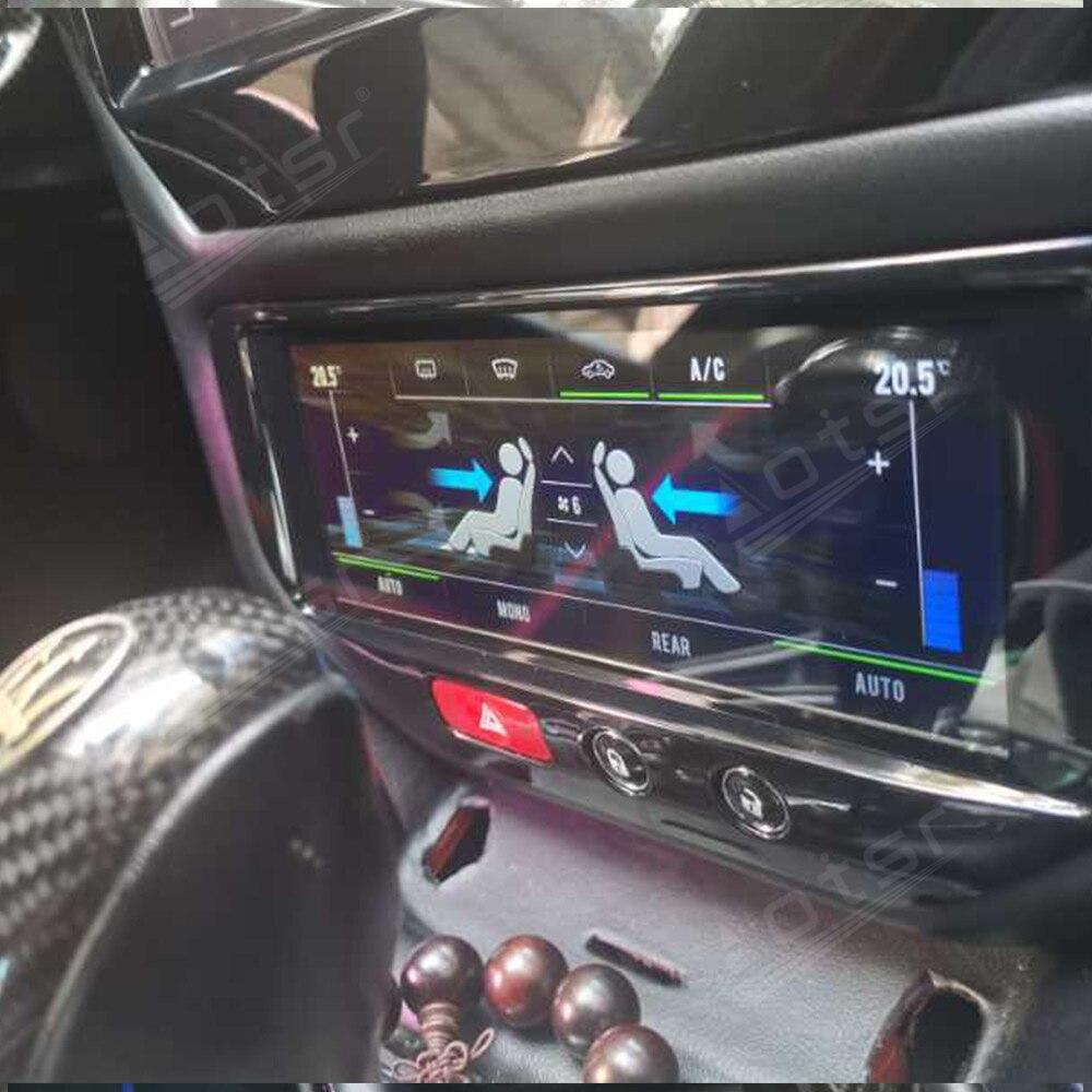 Android táctil LCD aire acondicionado pantalla GPS navegación para Maserati GT/GTS/GF/MC 2007-2017 la Radio del coche reproductor Multimedia ESTÉREO