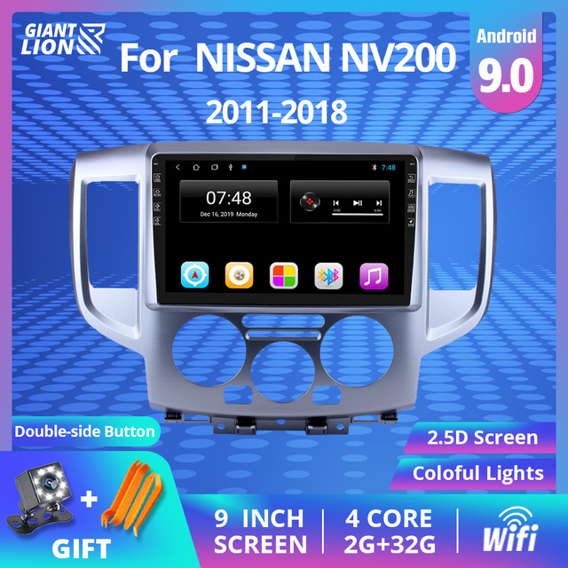 2din Android 9.0 Car Radio For Nissan NV200 2011 2015 2016 2017-2018 2din Car Multimedia Player Auto Radio Head Unit Stereo DVD