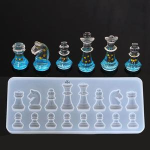 Crystal International Chess Shape Silicone Mold DIY Handmade Epoxy Resin Crafts Making Mold Baking Mould Kitchen Accessories