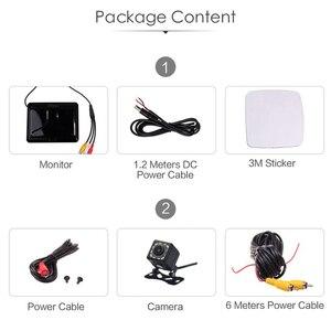 Image 5 - HD 5 дюймов 800*480 TFT LCD Складной автомобильный монитор для парковки задним ходом и 12 камера заднего вида со светодиодной подсветкой