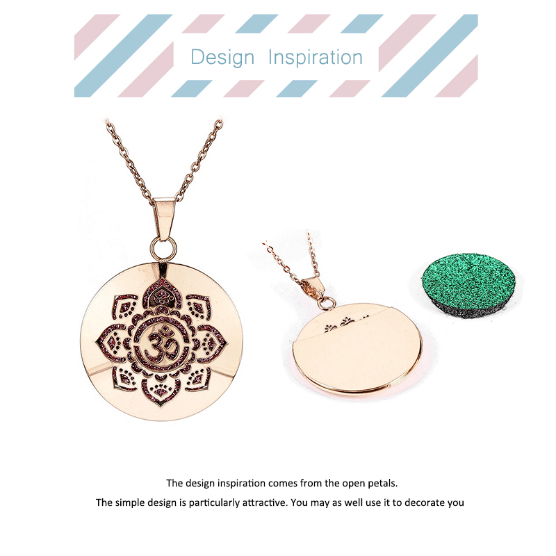 Aromatherapy Essential Oil Diffuser Locket Necklace (103-2)