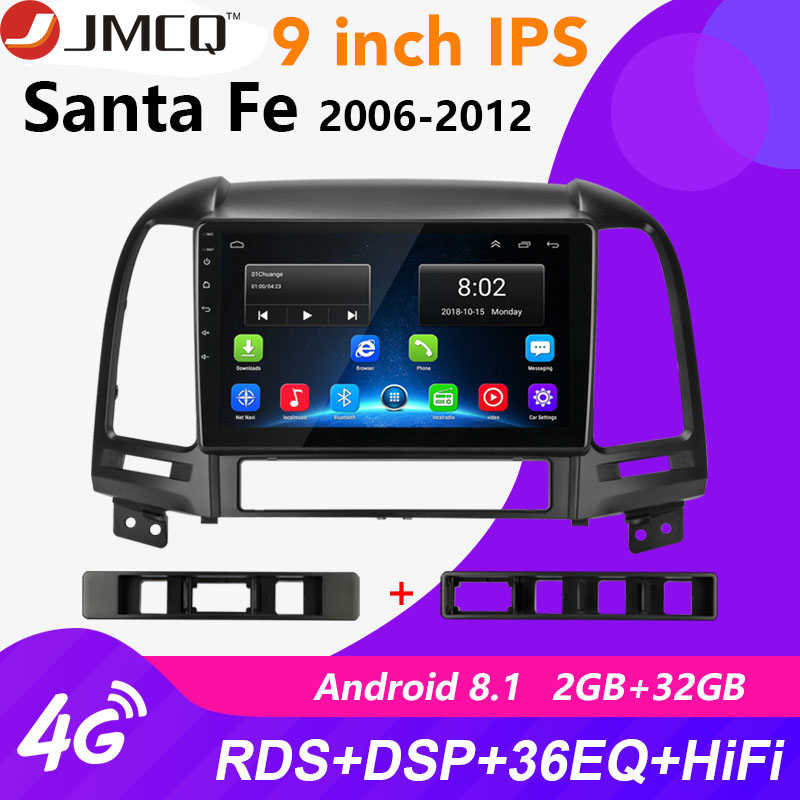 "Android 8.1 9 ""2din Auto Radio Voor Hyundai Santa Fe 2 2006-2012 2 + 32G RDS DSP Multimedia Stereo Audio Player GPS Head Unit 2 DIN"