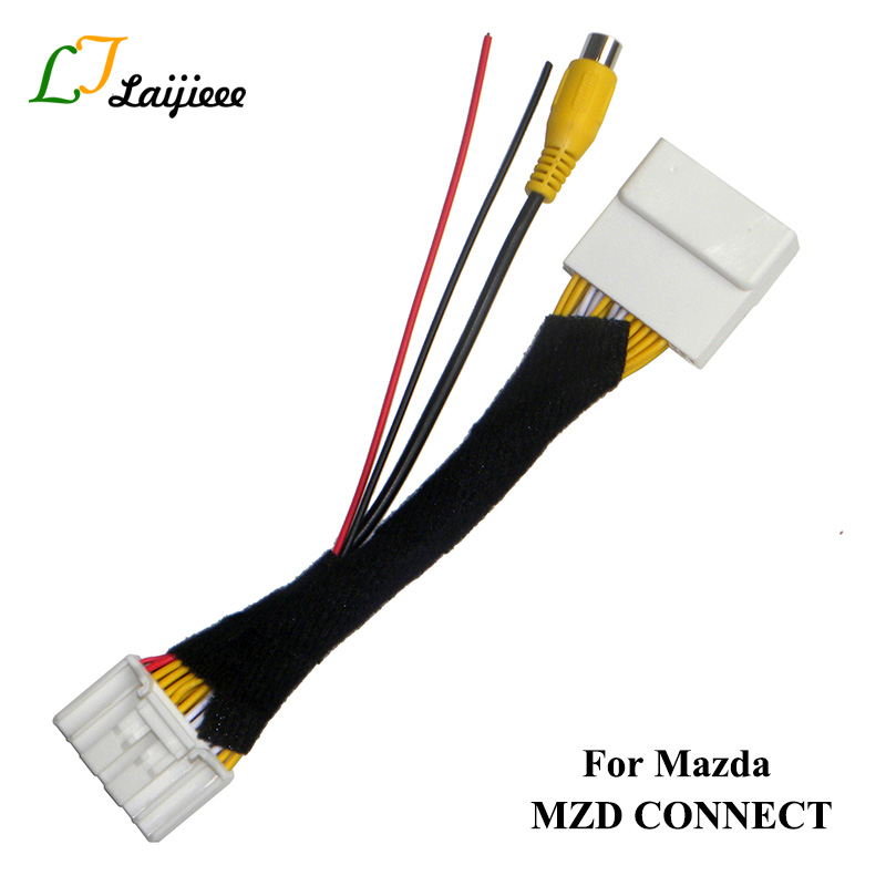 28Pin Connection Cable For Mazda 2 3 6 CX-5 Demio Axela Roadster MX-5 Miata For Fiat 124 Spider Reversing Camera To OEM Monitor