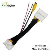 Кабель подключения 28Pin для Mazda 2, 3, 6, телефон, шина, родстер, для Fiat 124, паук, камера заднего вида для монитора OEM
