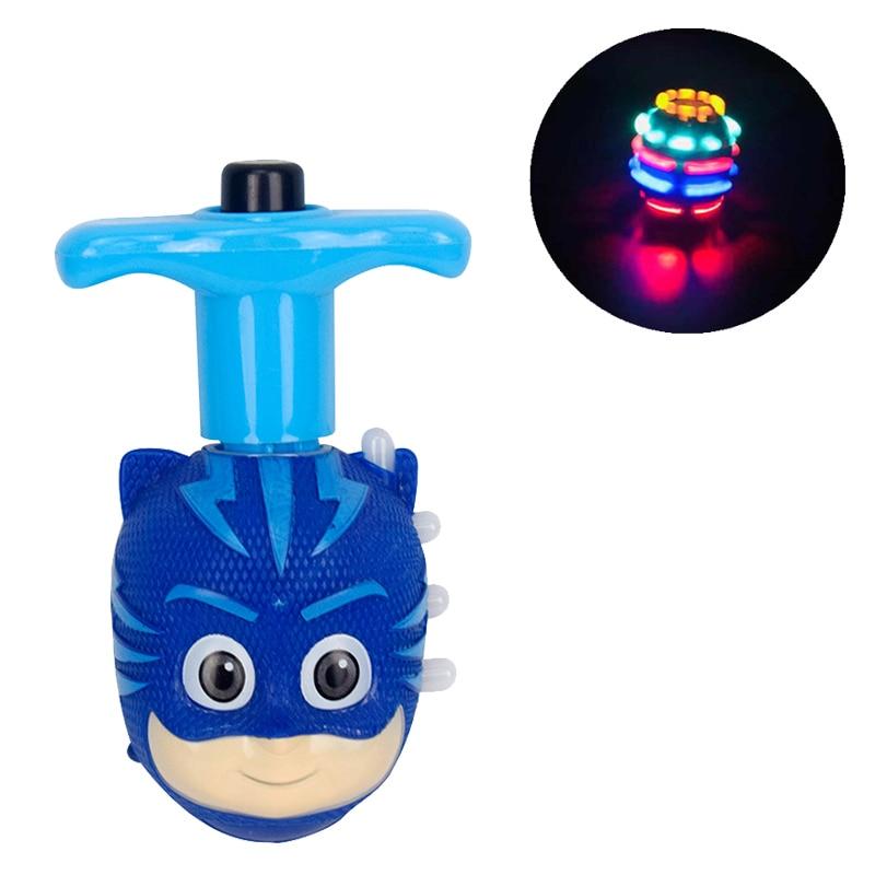 PJ Masks LED Light Music Gyro Action Figure Toys Catboy Owlette Gekko Halloween Pj Mask Anime Birthday Gift Toys For Children