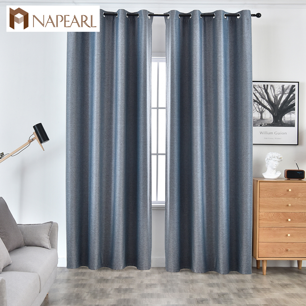 NAPEARL 1 Piece Solid High Quality Draperies Shading Modern Curtains Home Decor Living Room Windows Elegant All Match New Style