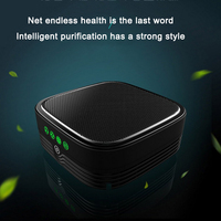 Negative Ion Car Air Purifier 4 layer Composite Filter Intelligent UV Antibacterial OEM Negative Ion Air Freshener Aromatherapy