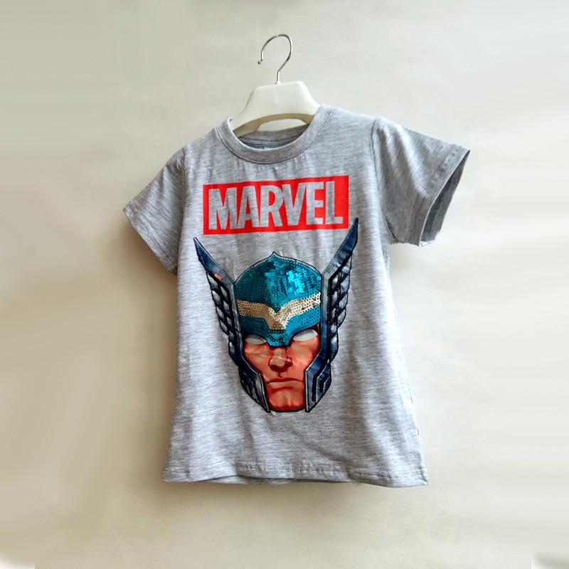 Summer Boys T-Shirts Children Tshirts Magic Cartoon Sequin Cotton Casual Fashion T Shirt Kids Tops Tee Kids Outwear Clothes