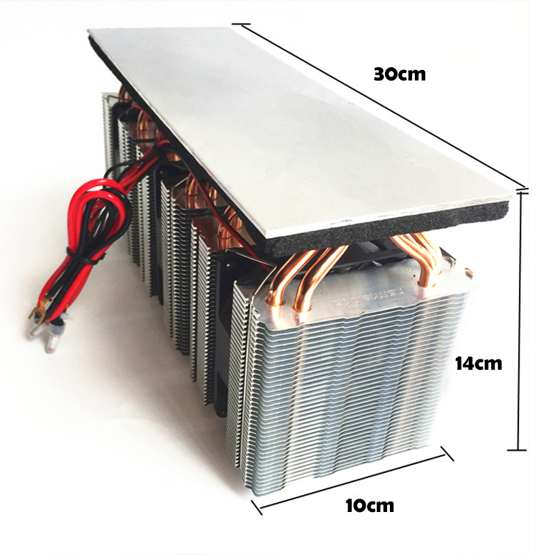 12V semiconductor refrigeration board DIY household small air conditioning refrigerator water cooling radiator Peltier cooler