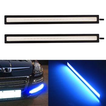 1PC 17cm wodoodporna światła do jazdy dziennej światło niebieski Super jasne LED światła samochodowe jazdy dziennej DRL reflektor do jazdy dziennej 12V światło do jazdy dziennej nowy 2021 tanie i dobre opinie HUXUAN NONE CN (pochodzenie) OUTDOOR