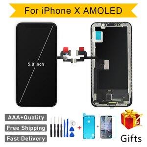 Image 1 - جودة AAA AMOLED GX لا الميت بكسل آيفون X شاشة إل سي دي باللمس شاشة 5.8 بوصة محول الأرقام الجمعية استبدال LCD بانتيلا