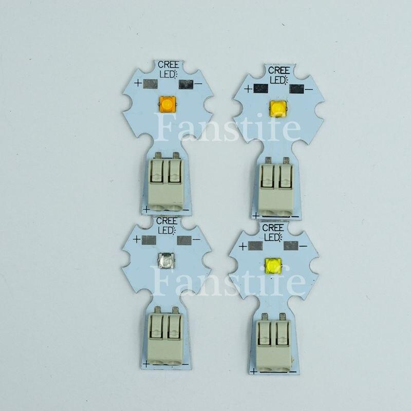10X Solderless Cree XTE XT-E 1W-5W Cool White Warm White NW Royal Blue High Power Led On Solderless Aluminum PCB