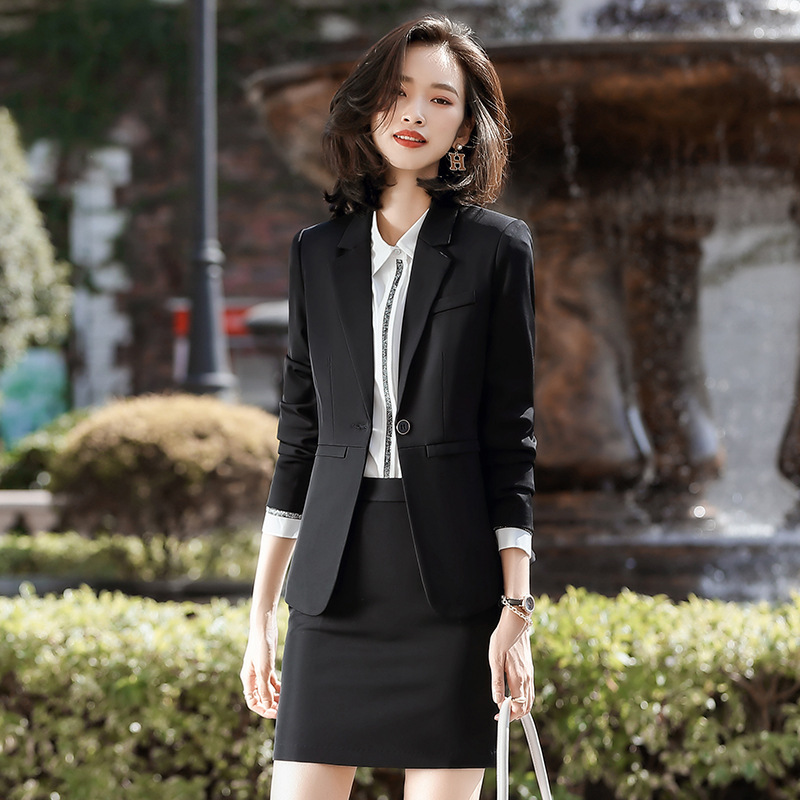 Spring And Autumn Women's Professional Wear Casual Suit Pants Fashionable Lady Blazer Jacket Elegant Slim Skirt Interview Outfit