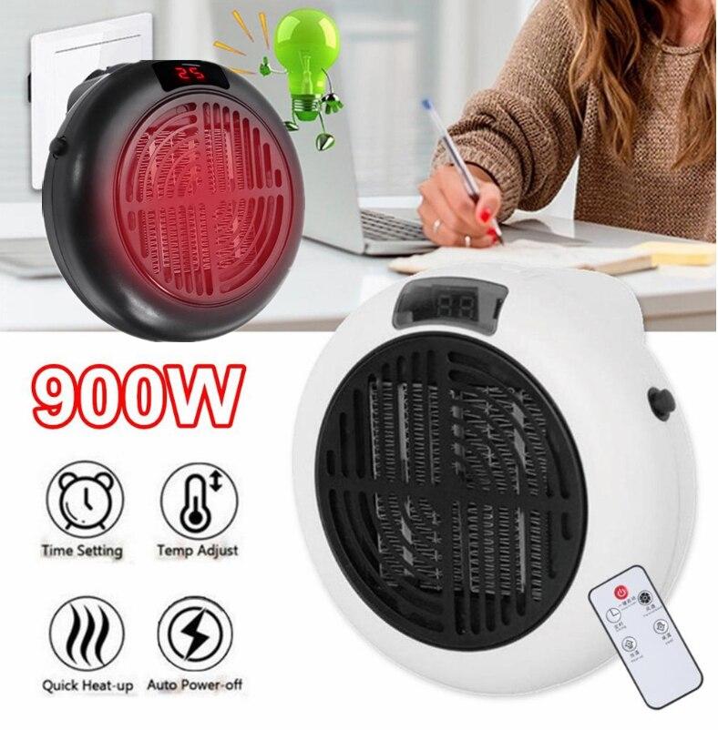 900w Mini Portable Electric Heater Desktop Heating Warm Air Fan Home Office Wall Handy Air Heater Bathroom Radiator Warmer Fan(China)