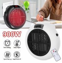 900w Mini Portable Electric Heater Desktop Heating Warm Air Fan Home Office Wall Handy Air Heater Bathroom Radiator Warmer Fan