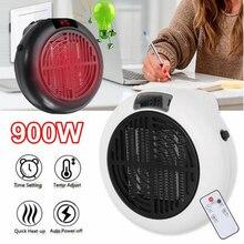 900w Mini calentador eléctrico portátil de escritorio calefacción ventilador de aire caliente hogar Oficina pared Handy calentador de aire baño radiador ventilador calentador