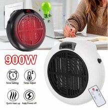 900w 미니 휴대용 전기 히터 데스크탑 난방 따뜻한 공기 팬 홈 오피스 벽 핸디 에어 히터 욕실 라디에이터 따뜻한 팬
