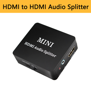 HDMI Audio Splitter to 3.5mm jack SPDIF COAXIAL out Amplifier Decoder 2CH/5.1CH Audio Extractor Mini Converter for PS4 PC(China)