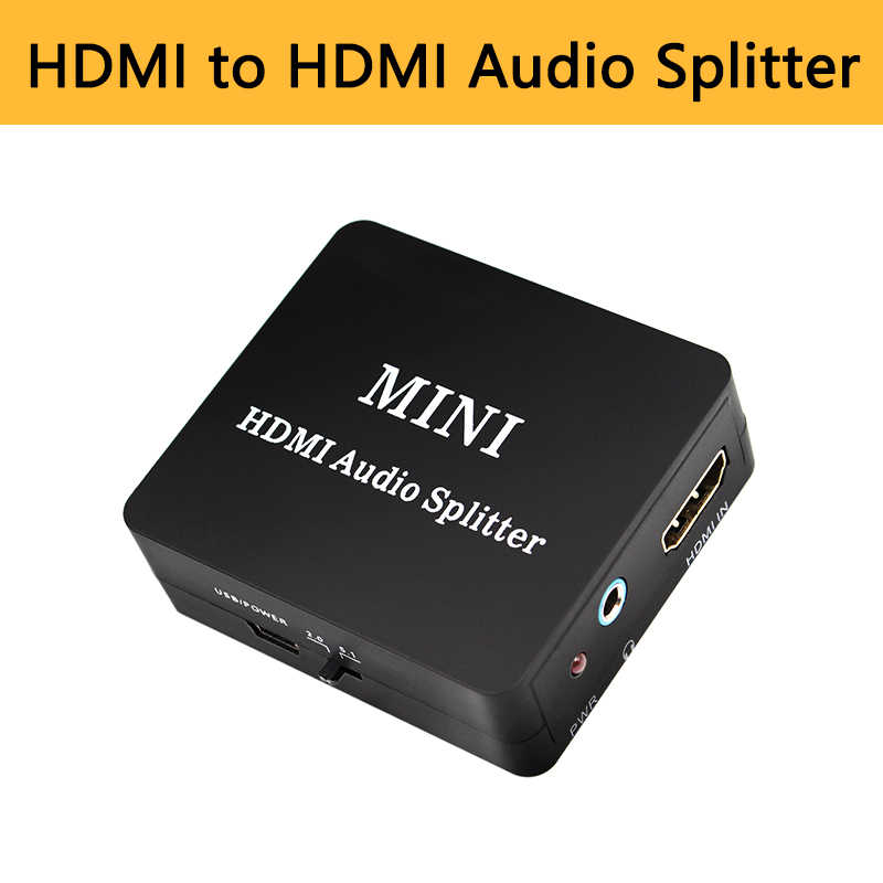 HDMI к HDMI Оптический SPDIF 3,5 мм разъем аудио Suppport 5,1 RCA L/R аудио видео преобразователь сплиттер адаптер высокого качества