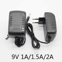 AC 110-240V DC 9V 0.5A 1A 1.5A 2A 500mA Universal Power Adapter Supply Charger adapter Eu for LED light strips 5.5x2.5mm (2.1mm)