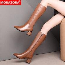 MORAZORA 2020 large size 33-45 winter keep warm knee high bo