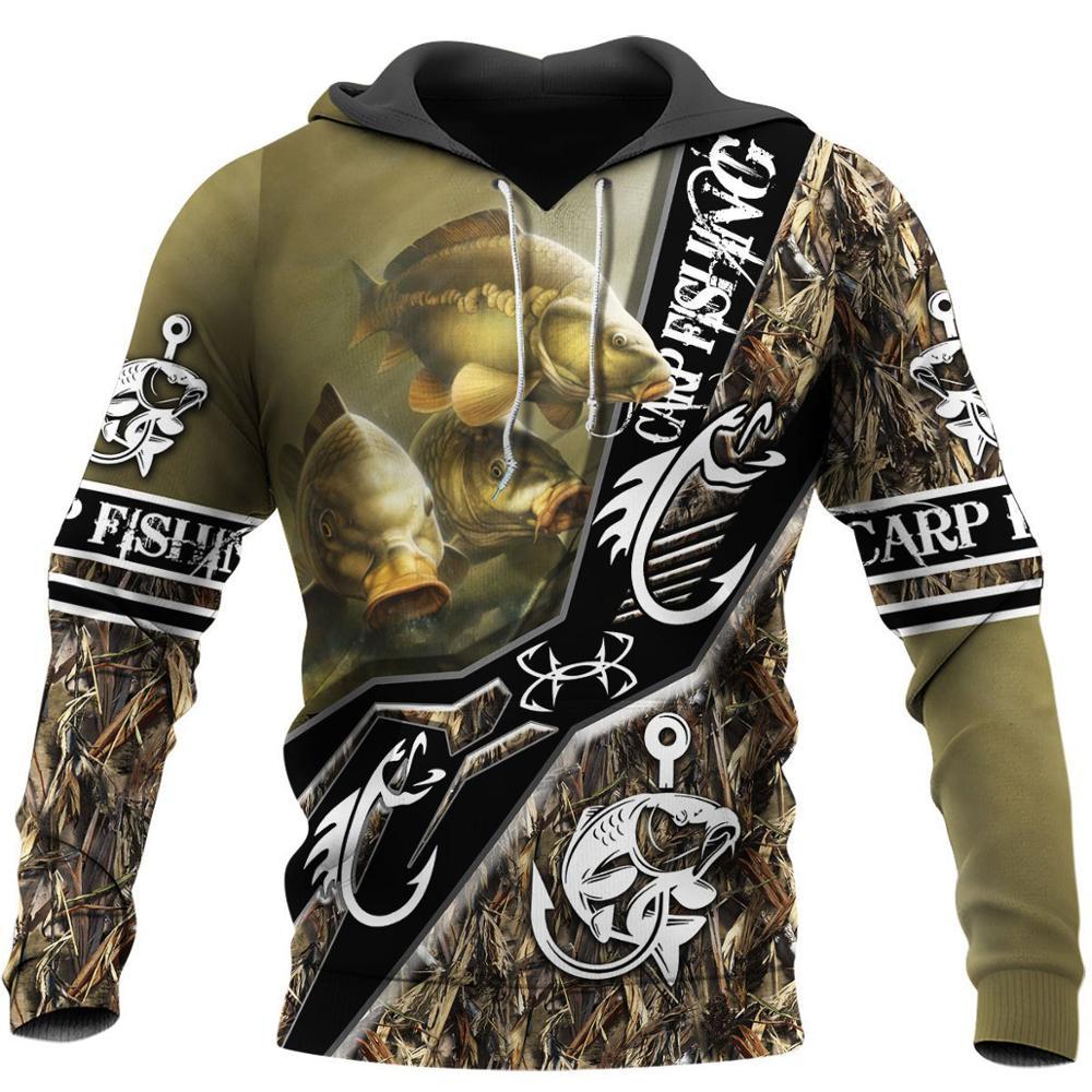 Carp Fishing pattern 3D All Over Printed Hoodie For Men/Women Harajuku Fashion Animal hooded Sweatshirt Casual Jacket Pullover