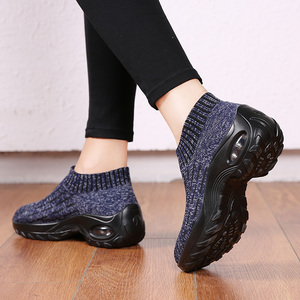 Image 4 - STQ Women Shoes Winter Flats Sneakers Shoes Breathable Mesh Shoes Women Sneakers Ladies Slip On Creepers Shoes Woman TF1972