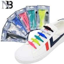 14pcs/lot Silicone ShoeLaces No Tie Shoe Laces Elastic Sneakers Shoelaces Kids Adult Shoe Strings Rubber Shoelaces darseel shoe accessories shoelaces tat