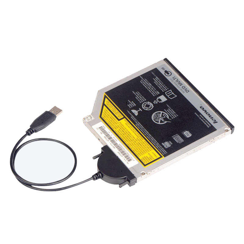 USB 2.0 untuk 7 + 6 Pin SATA CD-ROM Drive Optik Adaptor Kabel untuk Laptop Komputer AS99