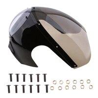 Motorcycle Vintage Head Light Bolt On Headlight Protector Fairing