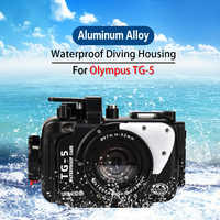 Seafrogs 100m/325ft TG5 Underwater Case aluminum alloy Diving Waterproof Housing for Olympus TG-5 Camera