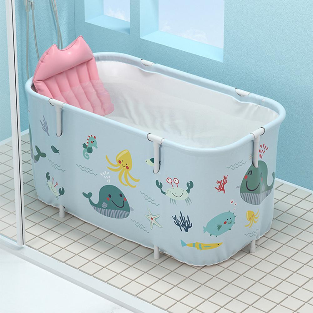 Banheira exterior não inflável portátil do agregado familiar da banheira de dobramento para adultos e crianças-1