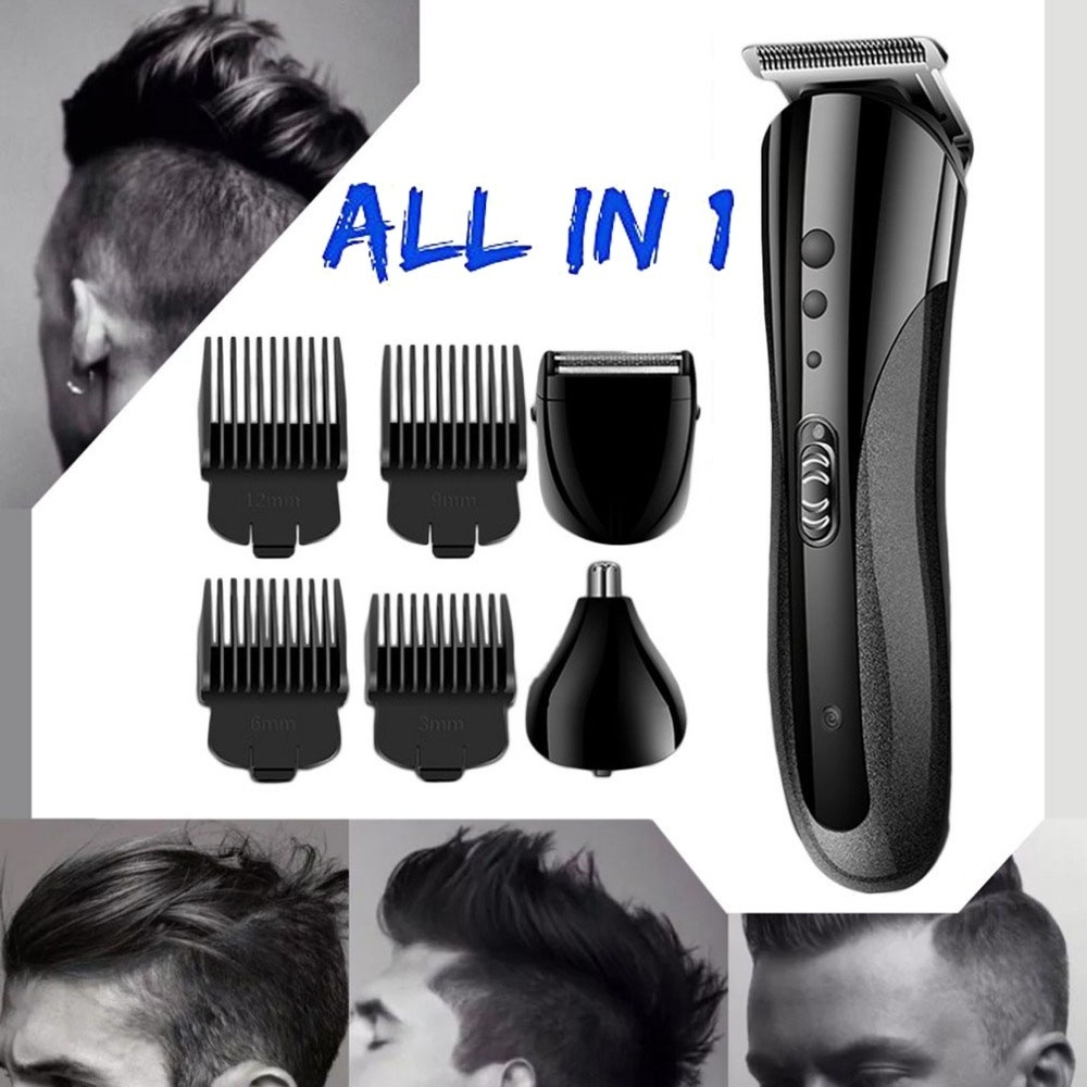 Kemei All In One Professional Electric Hair Clipper Hairdressing Cut Rechargeable Electric Nose & Hair & Beard Trimmer