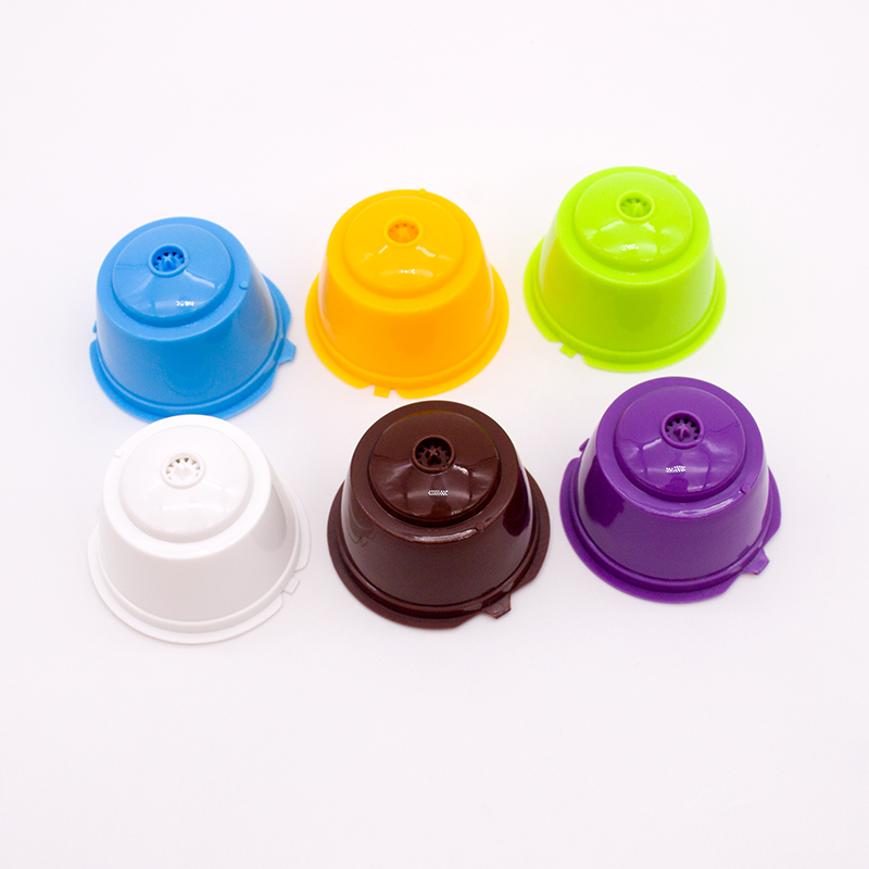 New Reusable Fit For Dolce Gusto Coffee Capsule,Plastic Refillable Compatible Dolce Gusto Coffee Filter Baskets Capsules 1Pcs
