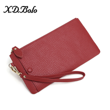 X.D.BOLO Wristband Women Long Wallet Many Departments Female Wallets Clutch Lady Purse Zipper Phone Pocket Ladies Card Carteras