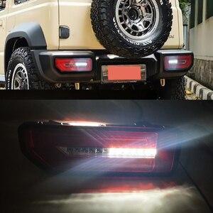 Image 4 - CSGJMY 2PCS 스즈키 지미에 대 한 LED 반사판 테일 램프 2019 2020 미등 후방 램프 주차 브레이크 빛 흐름 차례 신호