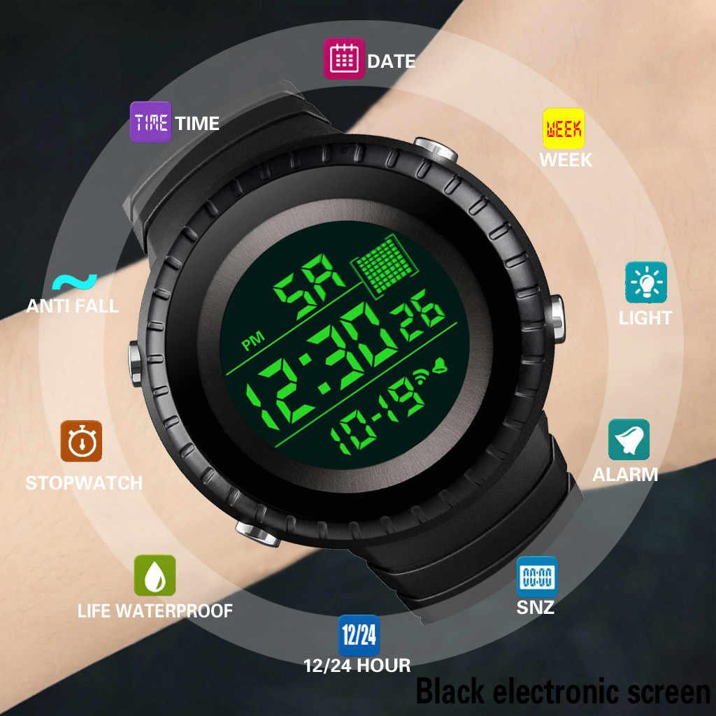 Relogio numérique de luxe hommes femmes numérique Led montre Date Sport en plein air montre électronique montre numérique Erkek Kol Saati montres